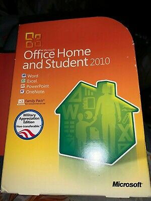 Microsoft Office Home & Student 2010 Military Appreciation Edition Family 3 Pack