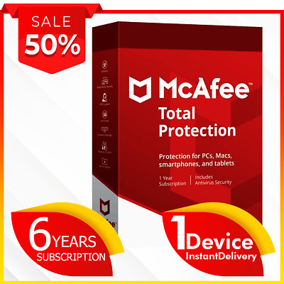 🔥 McAfee Total Protection 2020 ✅ 1 DEVICE ✅ 6 YEARS ✅ Instant Delivery 💯