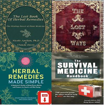 The Lost Book of Remedies Herbal Medicine by Claude Davis P.D.F - color pictures