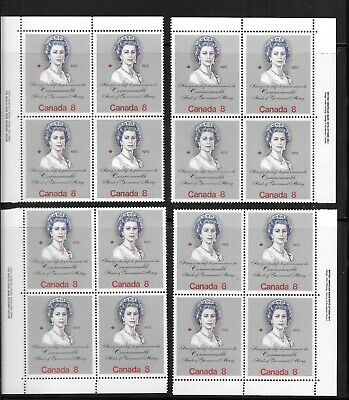 CANADA ROYAL VISIT 8  CENTS PL. 1  M.,S. of 4 PLATE BLOCKS # 620