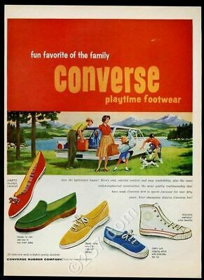 1961 Converse All-Star hi-top etc 5 shoe styles vintage print ad
