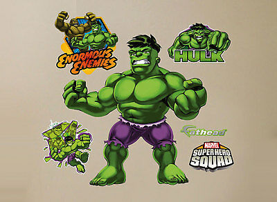 Fathead Super Hero Squad Hulk Marvel Comics Wall Decor Brand New 96-96060