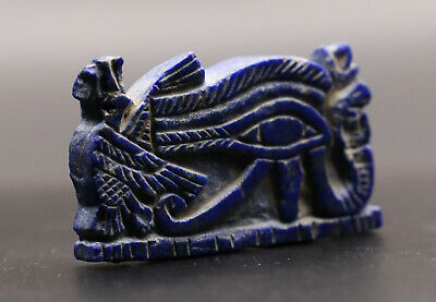 RARE EGYPTIAN EGYPT ANTIQUES EYE OF HORUS God LAPIS LAZULI STONE Statue1336 BC