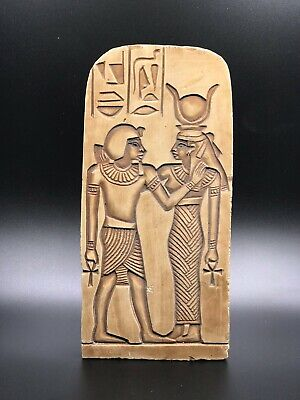 EGYPT EGYPTIAN ANTIQUES ISIS Suckling Stela Wall Relief Carved OLD STONE BC