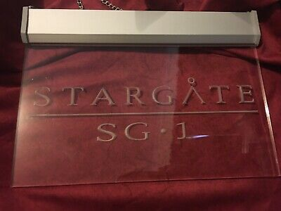 Stargate SG1 Engraved Acrylic  Sign With Chain 30cm X 22cm