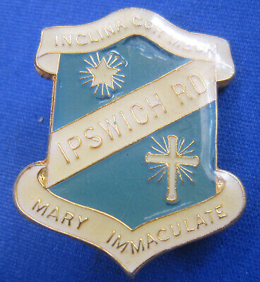 Mary Immaculate Ipswich Rd Inclina Cor Meum Epoxy School Badge by AJ Parkes Parx