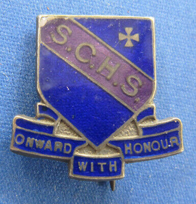 S. C. H. S. Onward With Honour Silver School Badge by Wallace Bishop Brisbane