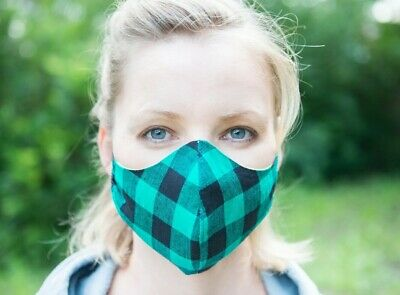 Australian Handmade Adult Cotton Face Mask with Filter Pocket, Washable