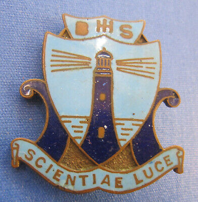 Ballina High School Scientiae Luce 3 Colour Enamel Badge by Angus & Coote