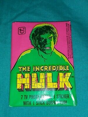 The Incredible Hulk Vintage Wax Pack Trading Cards 1979 Sealed