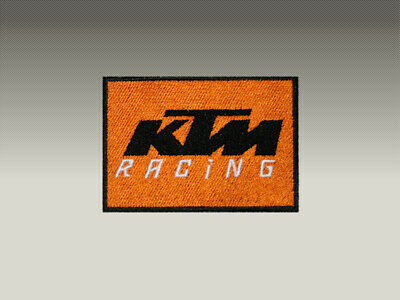 2 PATCH TOPPE KTM RICAMATE TERMOADESIVE  embroidered logo patch