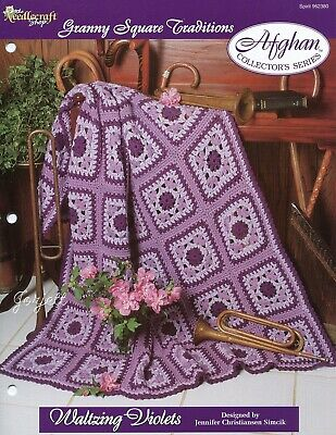 Pink Fantasy Afghan Granny Square Traditions crochet pattern leaflet