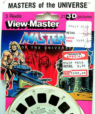 3x VIEW MASTER 3D REEL ⭐ MASTERS of the UNIVERSE ⭐ MATTEL /CARTOON SCHEIBEN 1036