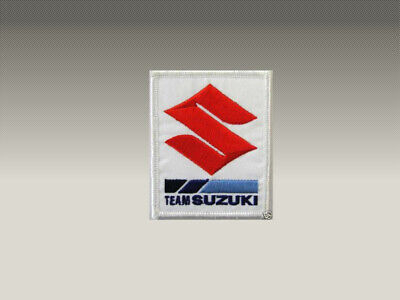 2 PATCH TOPPE SUZUKI TEAM RICAMATE TERMOADESIVE  embroidered logo patch