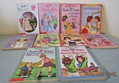 10 Pack Bundle Of Junie B Jones Home school Library Children's Chapter Barbie!