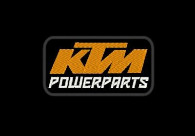 2 PATCH TOPPE KTM POWERPARTS  RICAMATE TERMOADESIVE  embroidered logo