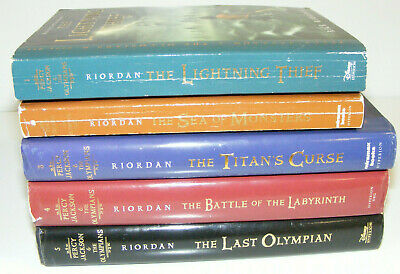 Percy Jackson & the Olympians complete set lot of 5 books 1 2 3 4 5 Rick Riordan