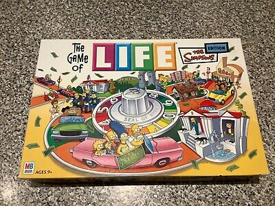 THE GAME OF LIFE THE SIMPSONS EDITION Collectable Family Board Game