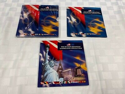 2002 Us Mint The 50 State Quarters & Euro Coin Collection