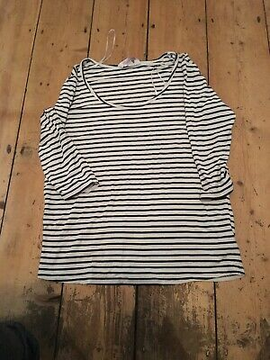 Red Herring Size 12 Blue Stripe Maternity Top (MX7)