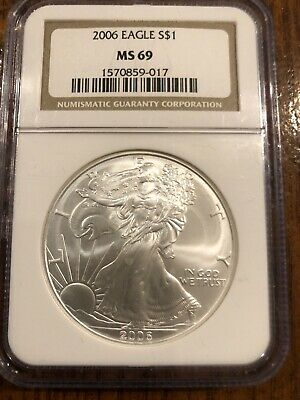 2006 Silver American Eagle $1 NGC MS69