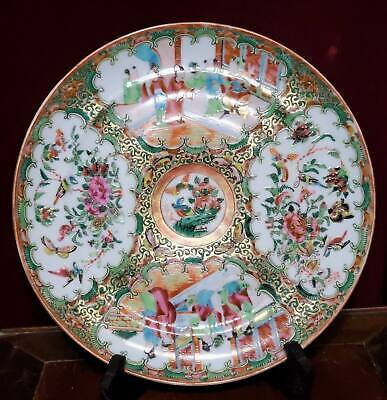 Excellent 19th Century Chinese Export Famille Rose Dinner Plate Lots of Gold