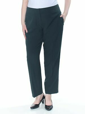 Kasper Women's Dress Pants Green Size 16 Crepe Slim Leg Stretch $79 #254