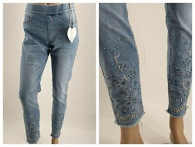 Top  Monday Premium Great Jog Pants Jeans Rhinestone + Embroidery Comfortable
