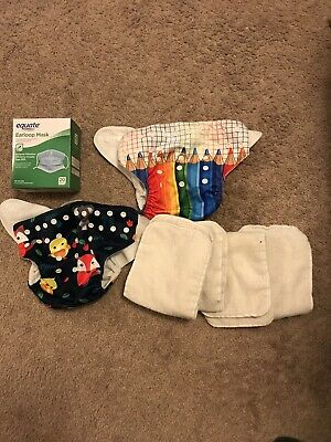 Free Pack Of 20 Face Masks W/ 2 alva baby cloth diapers And 4 Inserts