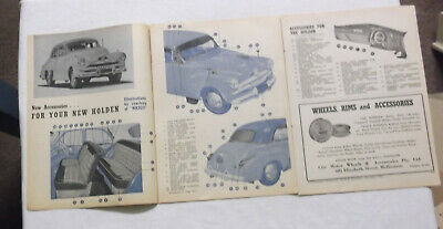 FJ Holden Nasco Accessories Original Article Removed from a 1953 Magazine