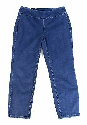 Charter Club Women's Blue Size 20W Plus Stretch Pull On Ankle Jeans $69 #112