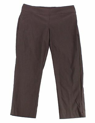 Charter Club Women's Brown Size 18WP Plus Pull On Dress Pants Stretch $79 #021