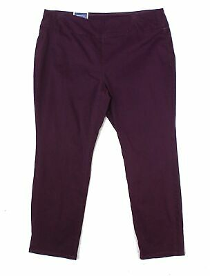 Charter Club Womens Purple Size 20W Plus Pull On Slimming Pants Stretch $69 #220