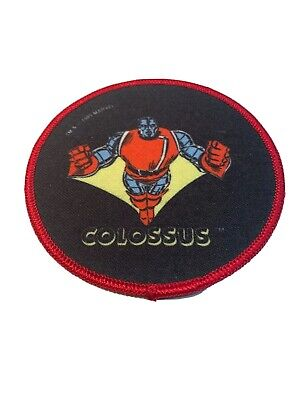 "1985 Vintage Marvel Comics Colossus 4"" Patch The Uncanny X-Men New Mutants"