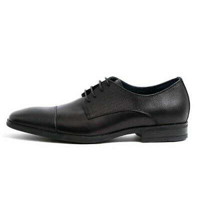 Mens Julius Marlow Size 10 Black Leather O2 Motion Lace Up Shoes Work