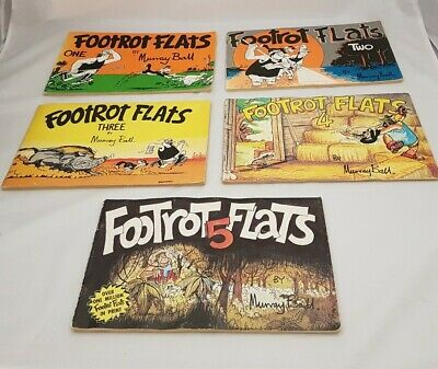 Footrot Flats Comic Books 1, 2, 3, 4 & 5 Murray Ball Vintage Collector's Item.
