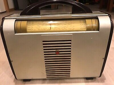 Philips Portable Model 3 Valve Radio