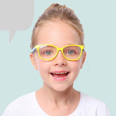 Kids Glasses Optical Frame Square Light Children Boy Girls Computer Eyeglasses