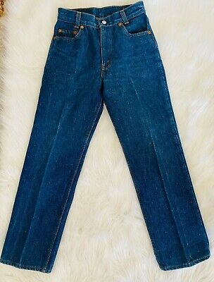 "RARE VINTAGE LEVI'S JEANS 302-0117 UNISEX YOUTH SIZE 12  26""x 28"" MADE IN USA"