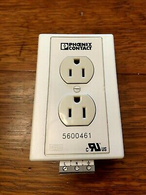 Phoenix Contact 5600461 120V AC Rail Mount Receptable Outlet - FREE SHIPPING