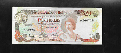 Belize (British Honduras) P-45 1983 $20 Dollars, Queen