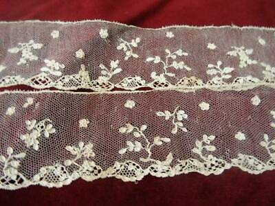 A Beautiful Length Early 19th Century Handmade Alencon Lace (B)