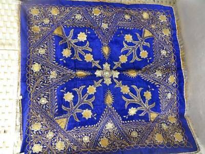 A Beautiful Antique 19th Century Ottoman Electric Blue Velvet Table Cloth