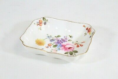 Old Royal Crown Derby English China Flowers Gold Rim Dish Bowl