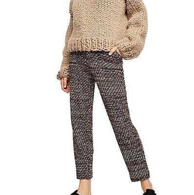 Free People Women's Pants Red Size Medium M Seam Knitted Stretch $148 #113