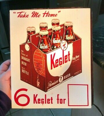 Rare Vintage Keglet Beer Light Up Lit Sign Esslinger Brewing Co Phila Pa 6-Pack