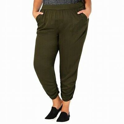 Style & Co. Women's Pants Olive Green Size 22W Plus Stretch Tapered $59 #407