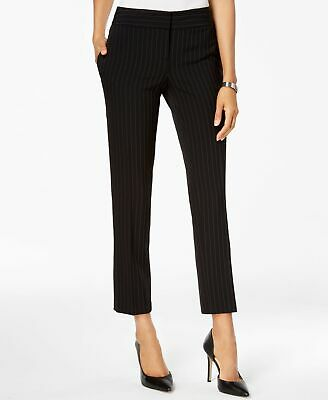 Kasper Women's Black Size 6 Striped Front Tab Dress Pants Stretch $79 #342