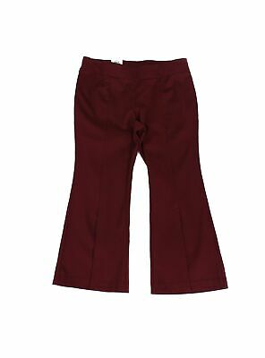 INC Women's Red Size 18WP Plus Flare Leg Pull On Dress Pants Stretch $89 #342