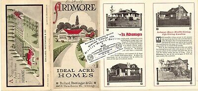 Chicago Antique 1910 Advertisement Map: Ardmore - Ideal Acre Homes, DuPage Co.